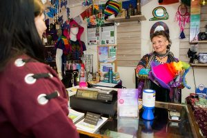 Hippy Shop in Mold Customer
